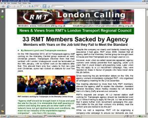 RMT LONDON CALLING
