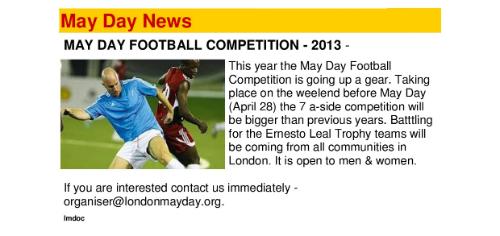 maday football