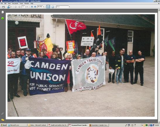FBU PICKET 4 HR STOPAGE